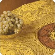 Tapete Amarillo y Marron a Crochet