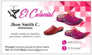 Tarjetas de presentación zapatillas de mujer
