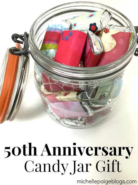 50th Anniversary Candy Gift