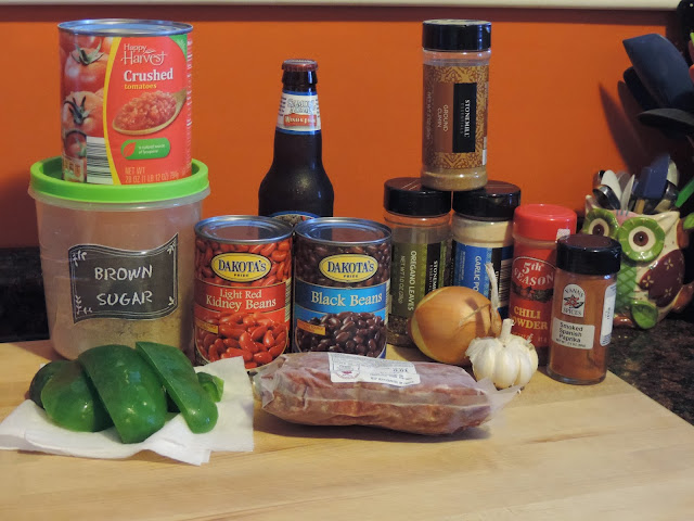 The ingredients needed to make the Perfect Chili Recipe.