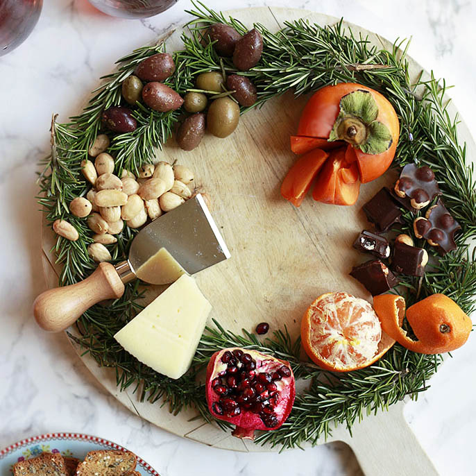 Holiday Wreath Cheese Board