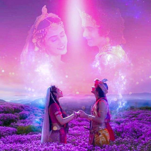 IND 彡Radha Krishna Quote彡 - प्रेम में कोई वियोग नहीं होता, प्रेम ही