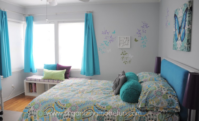 Before: Girl's Turquoise Bedroom