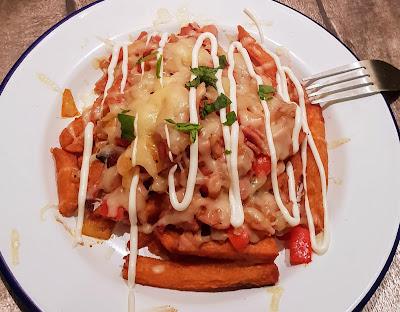 sweet potato dirty fries slimming world recipe onions bacon cheese