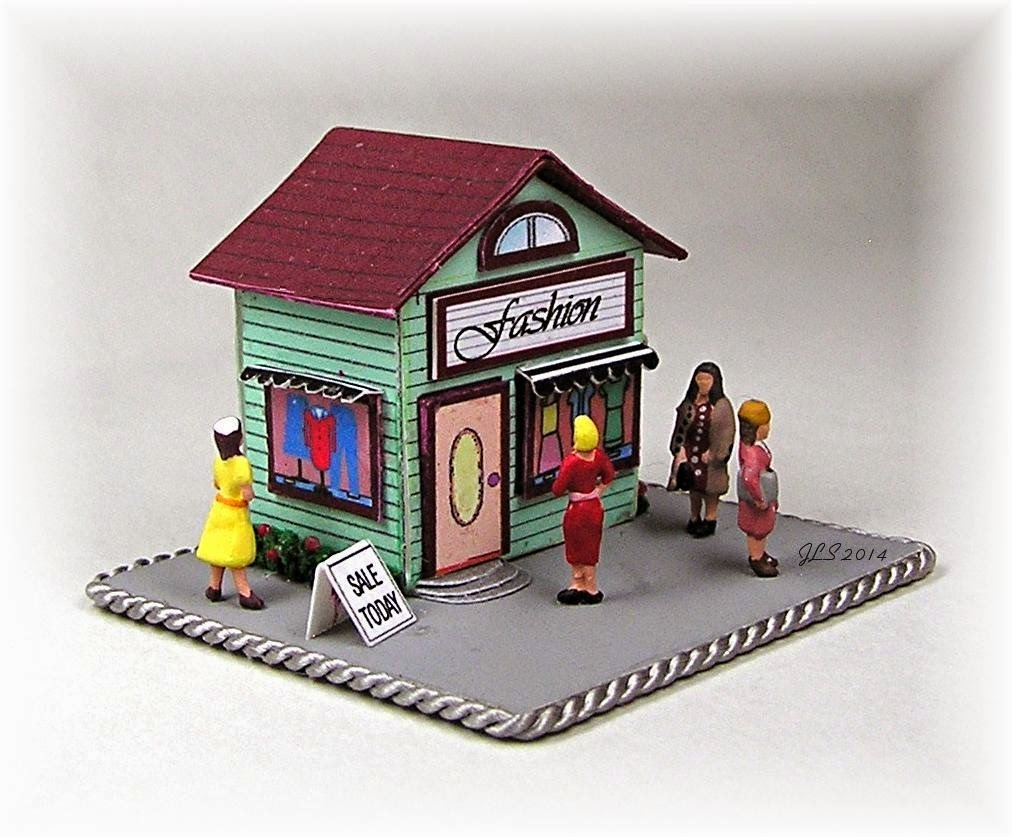 The dollhouse clothing store