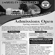 Uni of Malakand Mphil , PhD and B.Ed admissions 2019