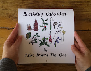 Birthday Calendar or Special Events Calendar by Alice Draws The Line front