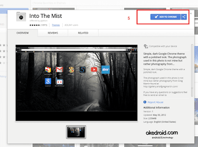 Install Tema > Add to Chrome Google Chrome