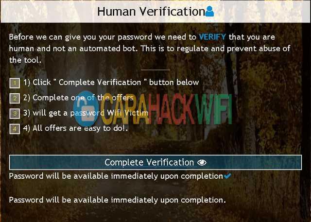 tinggal klik verifikasi jika proses hack telah selesai