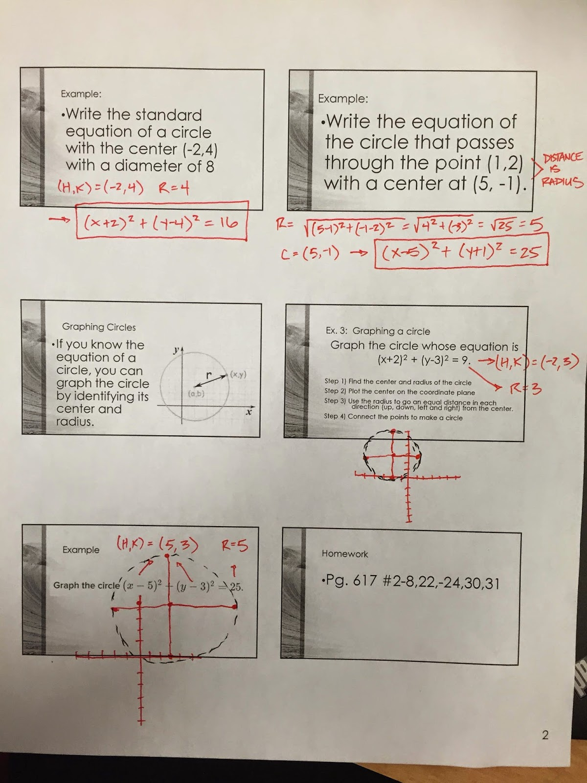 Honors Geometry - Vintage High School: Section 10-8 ...