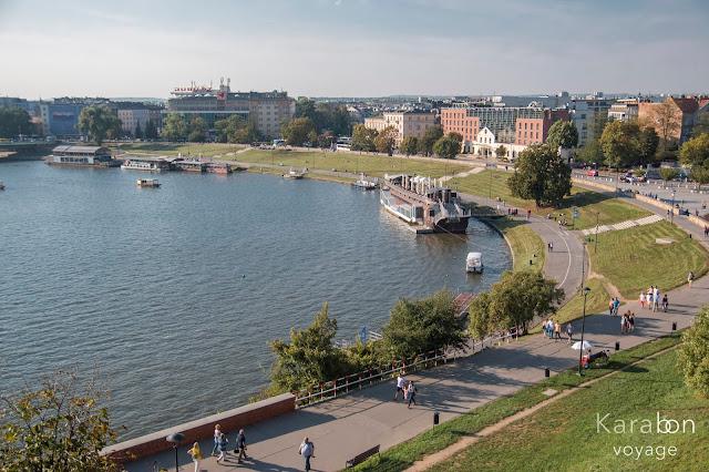 Wisła | Kraków | Wawel | rzeka | panorama | Karabon voyage