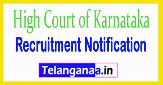 High Court of Karnataka Recruitment Notification