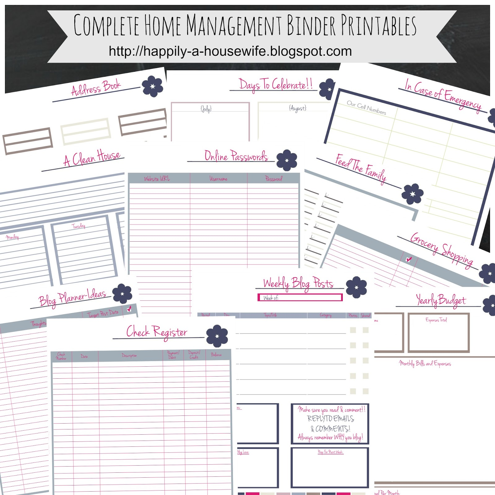 Happily A Housewife Updated Home Management Binder