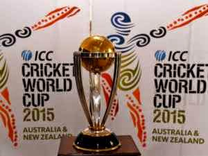 world cup 2015 trophy, india vs south Africa, MS Dhoni, Vitat kohli, world cup 2015 live