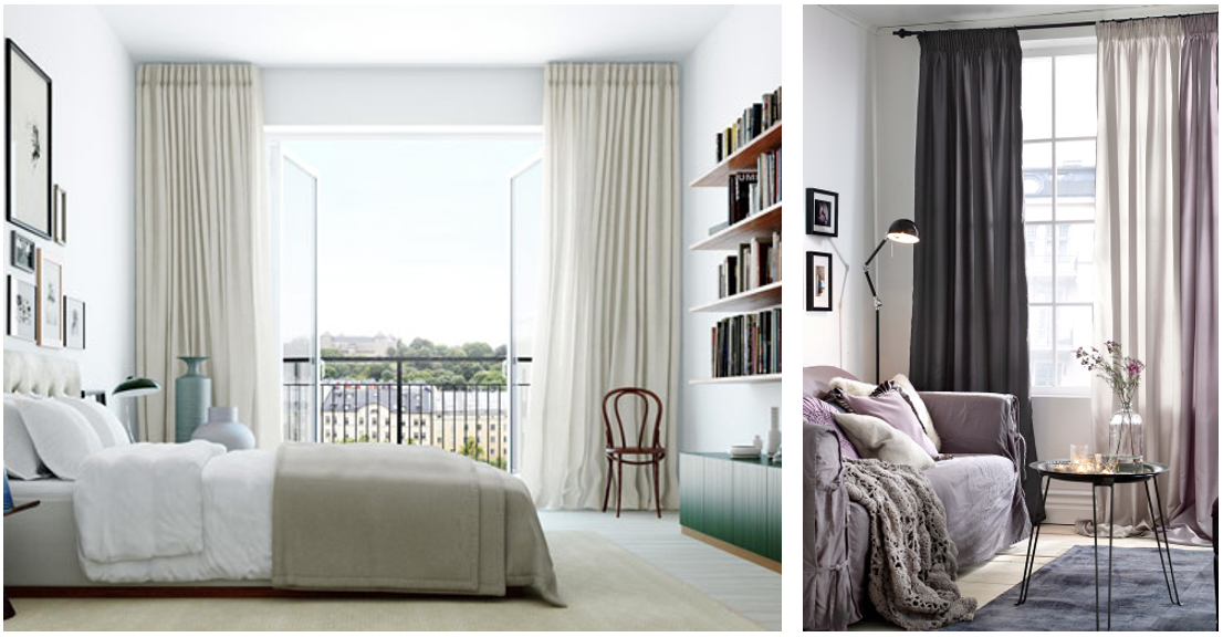 för korta gardiner tips