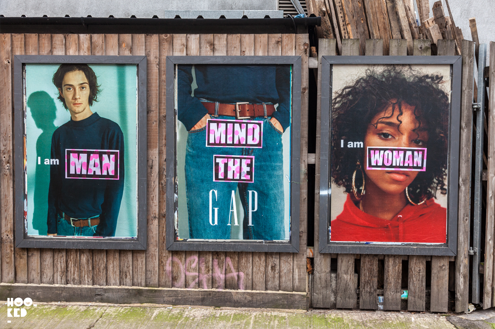 Mind The Gap: Adbusting with artist Aida Wilde in London