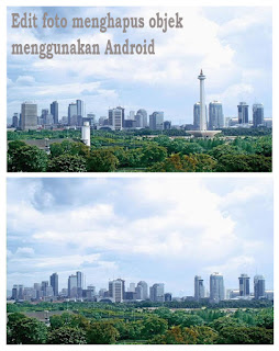 Contoh Foto sebelum dan sesudah di edit :
