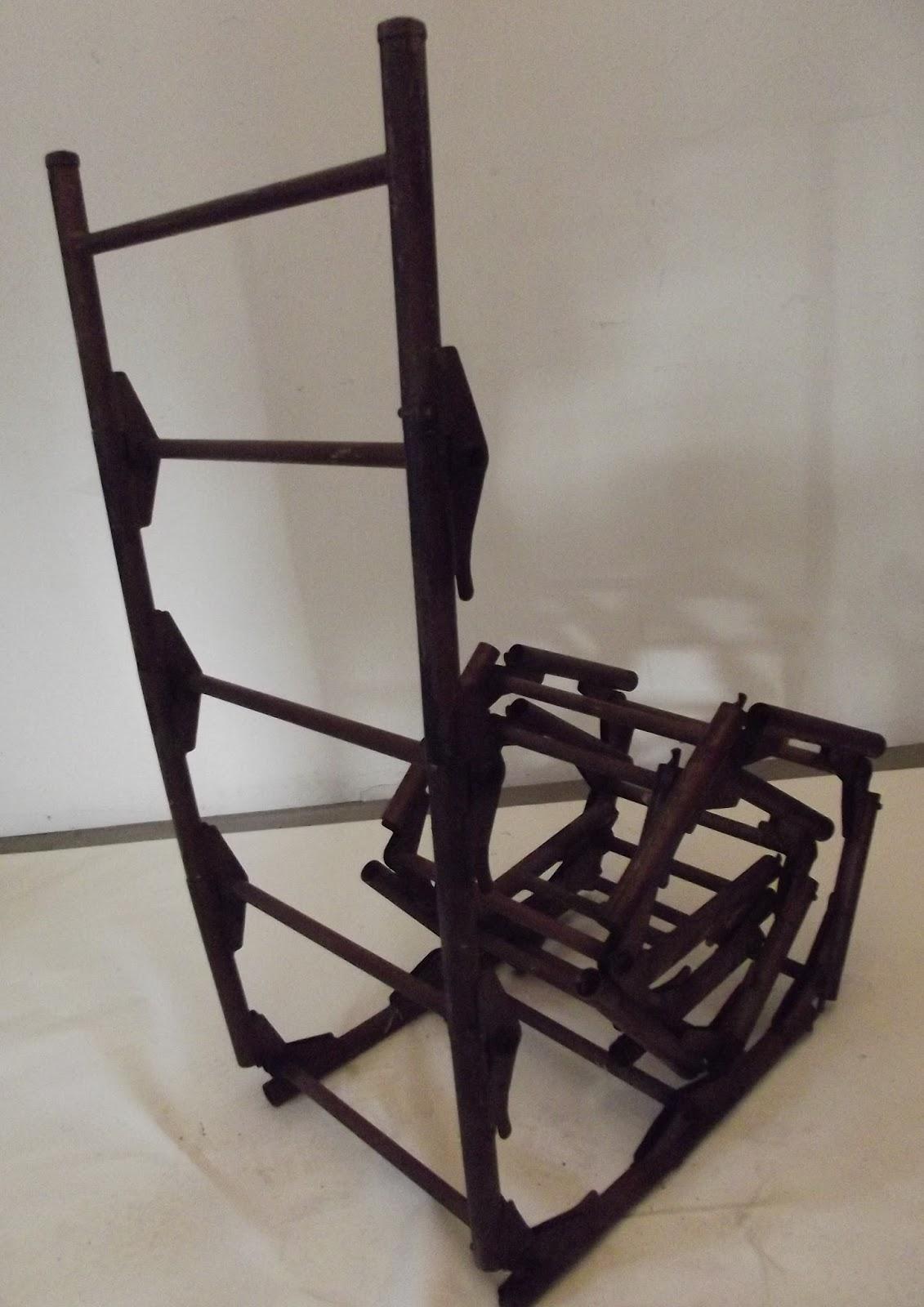 ancienne chelle m tal pliante pliable t lescopique atelier loft. Black Bedroom Furniture Sets. Home Design Ideas