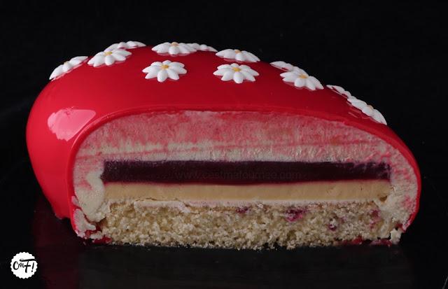 Le Red Dingue Entremets Passion Framboise Vanille