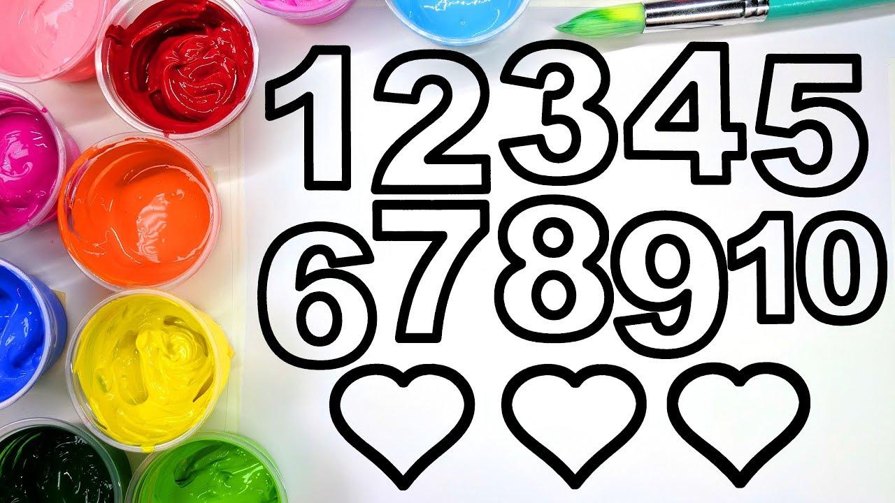 Arte e Matemática | Números para imprimir e colorir