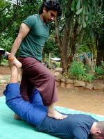 Thai Massage in Prone position