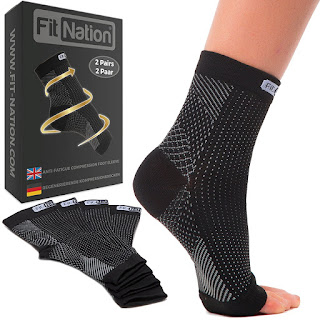 LIMITED DEALS, Fit Nation® Compression Foot Sleeves £10.99, 2 PAIR, 2 PAAR