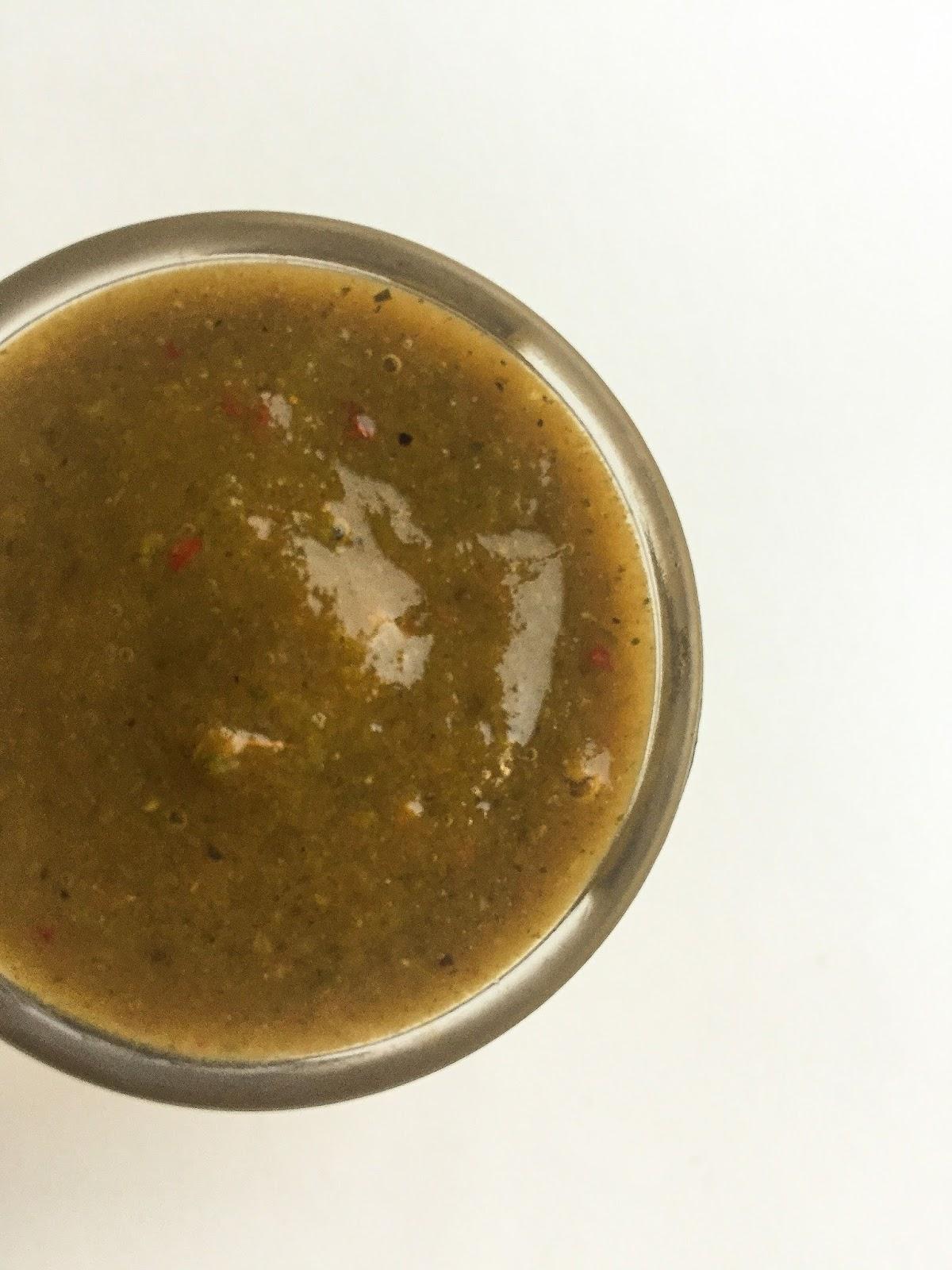 green chili and tamarind dip