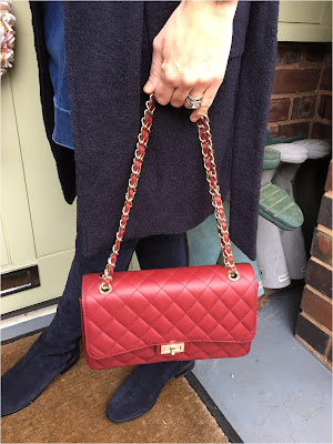 My Midlife Fashion, real leather handbag quilted shoulder ladies bag