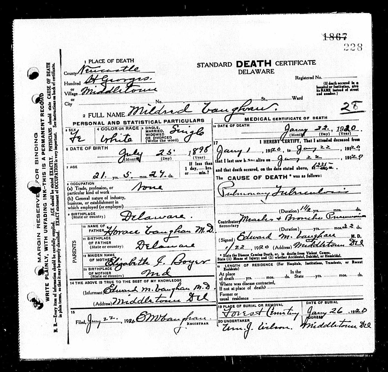 Tombstone Tuesday Vaughan Family Arodesky Genealogy