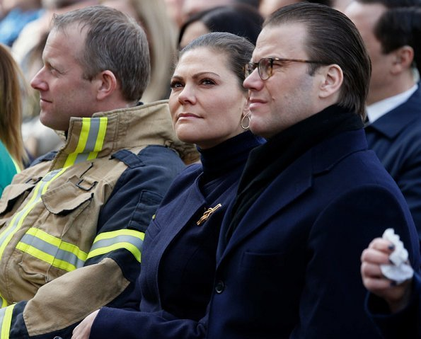 Crown Princess Victoria of Sweden and Prince Daniel attended a memorial concert at King's Garden for victims of 2017 Stockholm terrorist attack