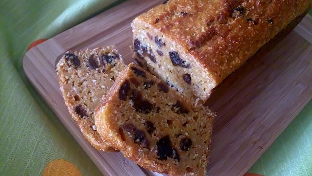 bizcocho zanahora coco frutos secos pasas ciruelas jugoso sano horno panque cake