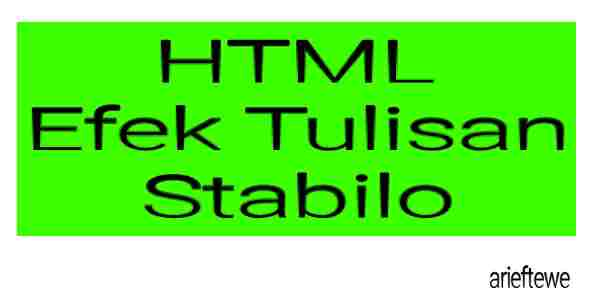 HTML Efek Tulisan Stabilo