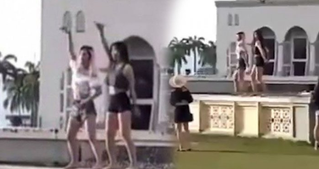 Edan!! Dua Turis Seksi Ini Bergoyang Arogan Didepan Masjid Malaysia.
