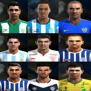 Faces Liga Argentina Pes 2013