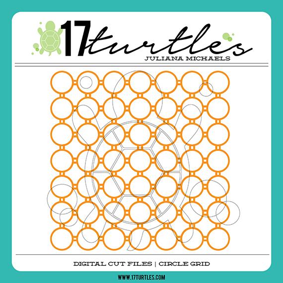 17turtles Digital Cut Files Circle Grid www.17turtles.com