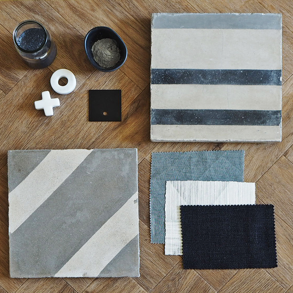 French For Pineapple Blog - Maitland & Poate Antinque Tiles - Monochrome Tile Details
