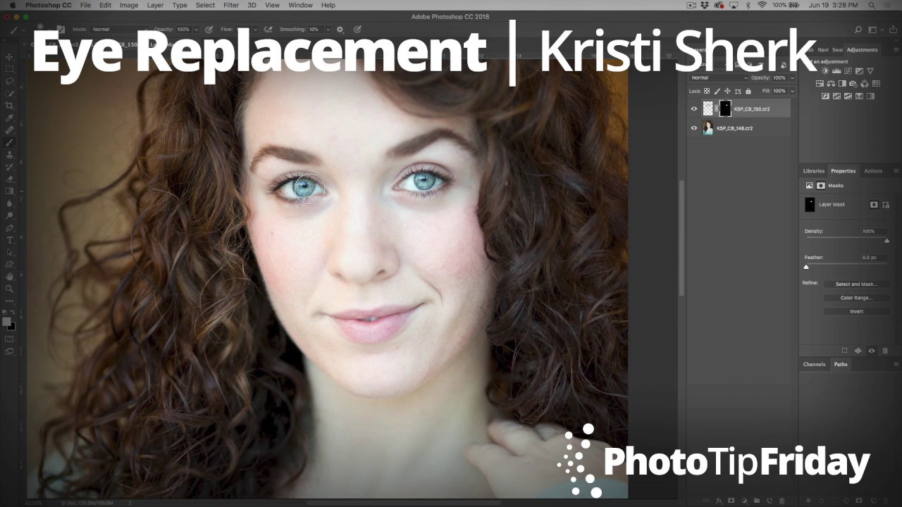 Soft-focus Eyes: Eye Replacement in Photoshop with Kristina Sherk