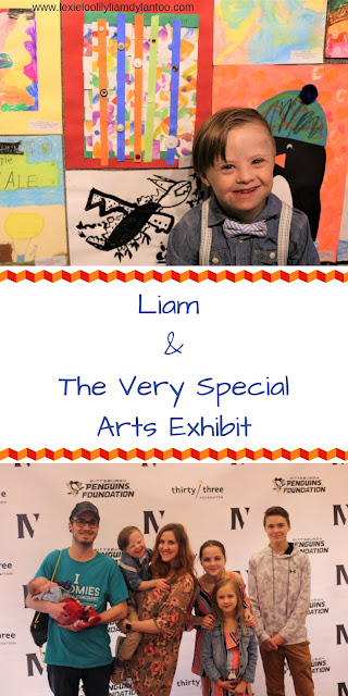 Liam & the Very Special Arts Exhibit #downsyndrome #artsandcrafts #specialneeds