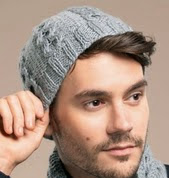 http://www.letsknit.co.uk/free-knitting-patterns/mans_hat_and_scarf