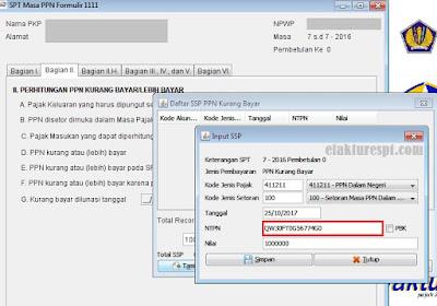 Error Input SSP di efaktur