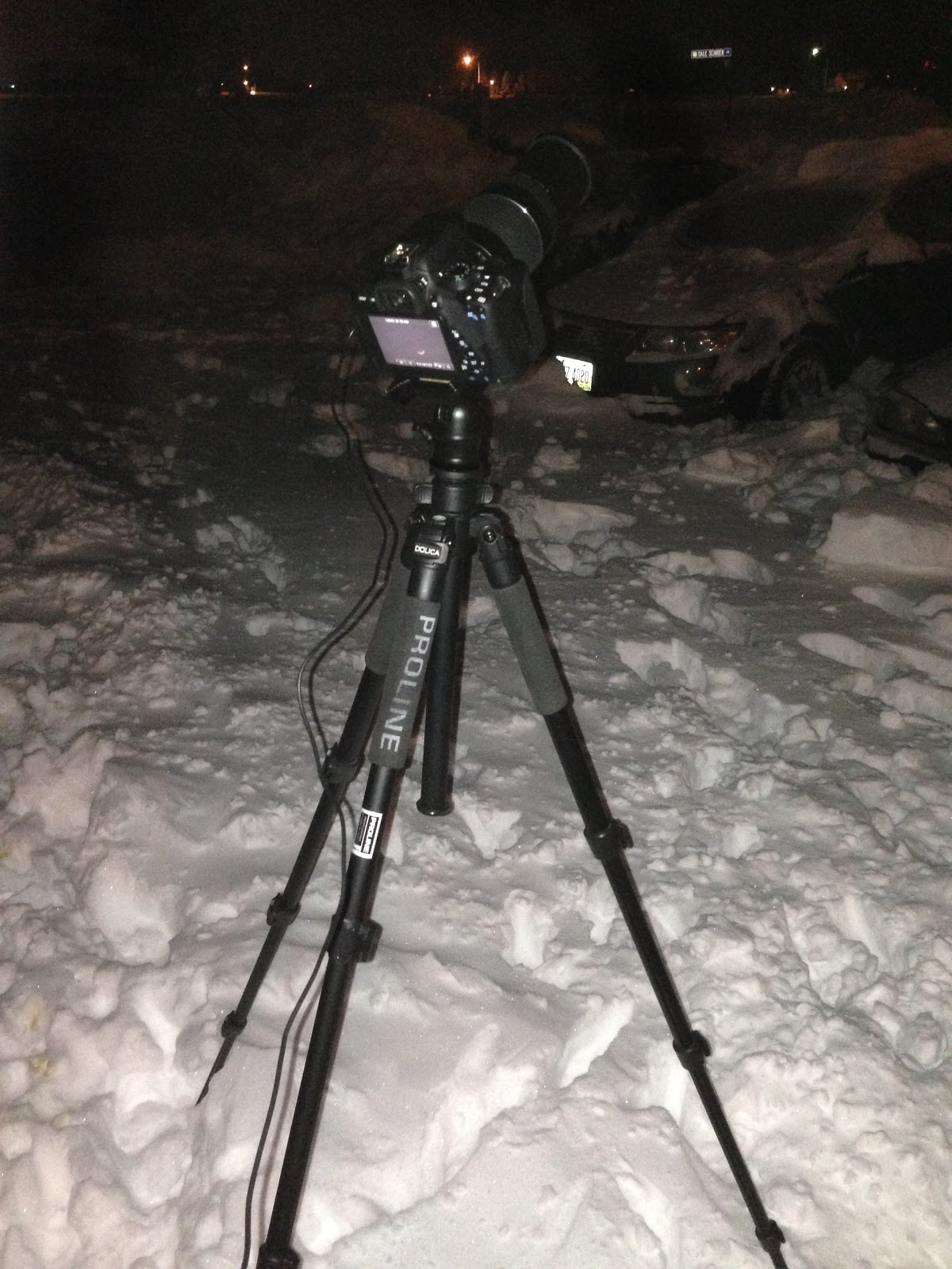 tripod in the snow