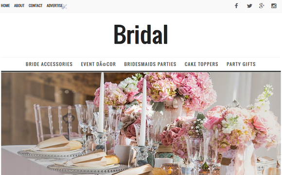 Bridal Beauty Blogger Template