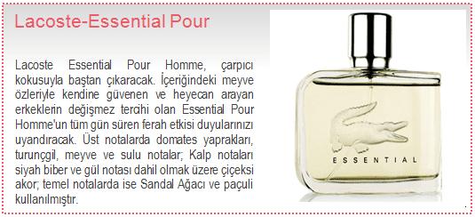 Lacoste-Essential Pour Homme EDT Erkek Parfüm