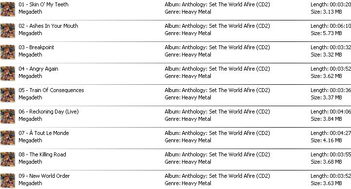 Download Lengkap Full Album MEGADETH 1985 - 2016 (RAR/ZIP