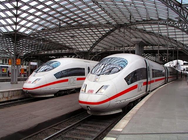 Viagem de trem de Munique até Hamburgo