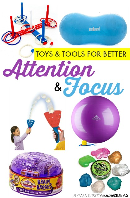Use this gift guide to help kids who need tools and toys to help with attention and focus in the classroom, school, or at home.