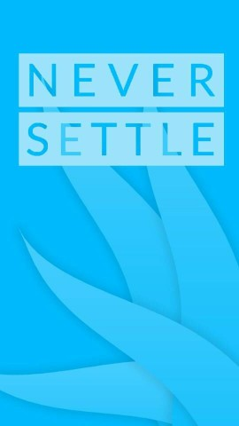 Never Settle Background