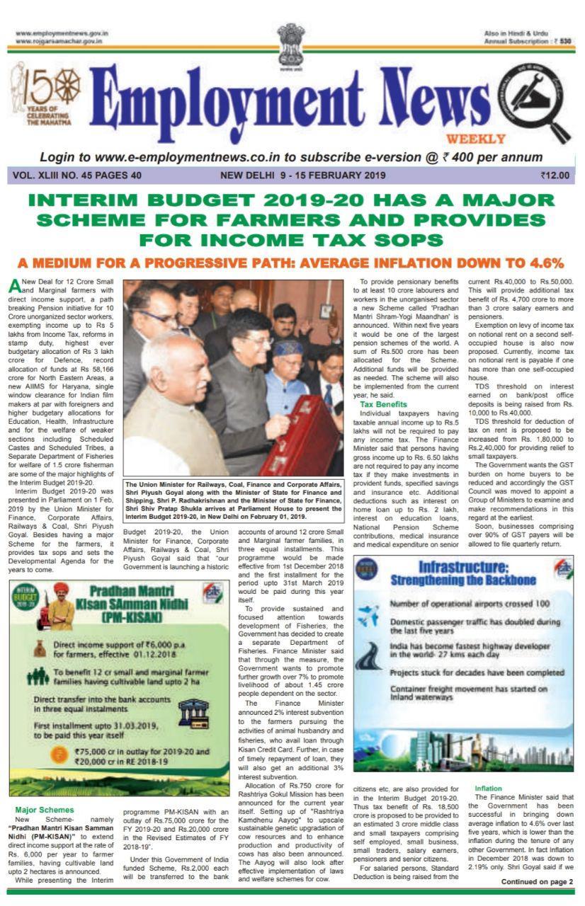 Employment News India Pdf