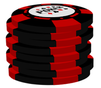 red on black poker chip stack