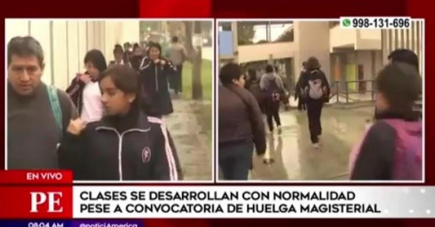 FENASUTEP inició huelga pero clases se desarrollan con normalidad en la ciudad de Lima [VIDEO]